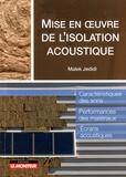 Malek Jedidi - Mise en oeuvre de l'isolation acoustique.