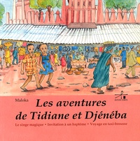 Maloka - Les aventures de Tidiane et Djénéba - Le singe magique ; Invitation à un baptême ; Voyage en taxi-brousse.