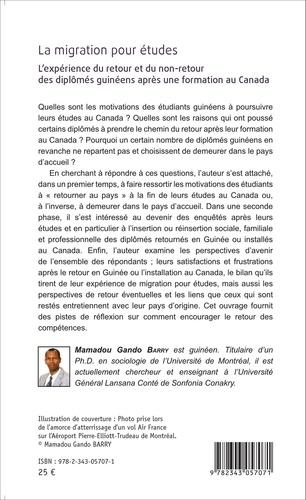 La migration pour études. L'expérience du retour et du non-retour des diplômés guinéens après une formation au Canada