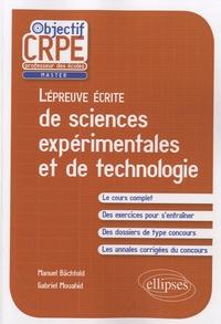 Manuel Bächtold et Gabriel Mouahid - L'épreuve écrite de sciences expérimentales et de technologie.