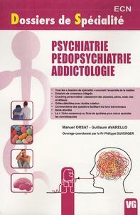Manuel Orsat et Guillaum Avarello - Psychiatrie, Pédopsychiatrie, Addictologie.