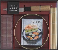 Accentsonline.fr Sushis, makis & sushis-cakes - Avec 1 moule à sushi-cakes en bambou, 1 natte en bambou, 1 moule à sushis, 1 couteau en bois et inox Image