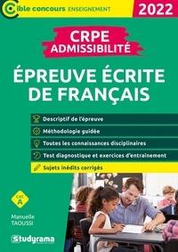 Manuelle Taoussi - CRPE - Admissibilité - épreuve de français - 2022.