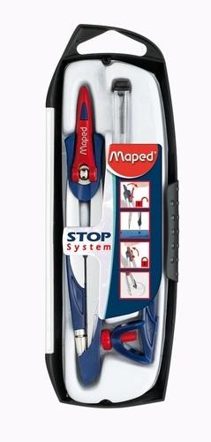 Compas scolaire 3 pièces - Stop System