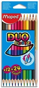 MAPED - Etui crayons de couleur Color'peps duo /12