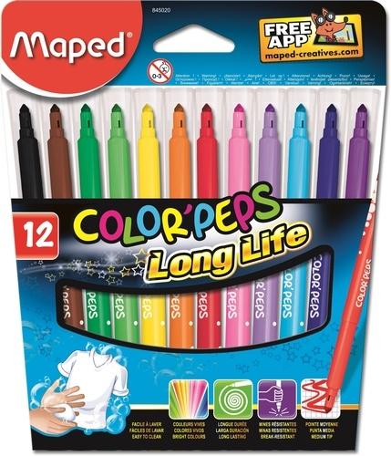 MAPED - Etui de 12 feutres Color'peps