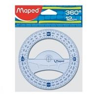 MAPED - Rapporteur circulaire  360° diam. 12 cm Géometric