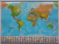 Maps International - Monde politique - Carte plastifiée, 1/30 000 000.