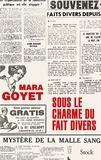 Mara Goyet - Sous le charme du fait divers.