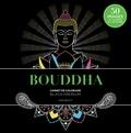 Marabout - Bouddha - Carnet de coloriage black premium.