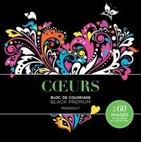 Marabout - Coeurs - Bloc de coloriage Black Premium.