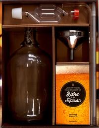 Marabout - Coffret Faire sa bière maison - Contient : 1 bonbonne en verre de 1,8L, 1 entonnoir en métal, 1 flexible, 1 canne de soutirage, 1 thermomètre, 1 barboteur et son bouchon silicone, 1 livre.
