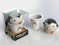 Marabout - Coffret Jeux de mains - Le livre Respirez, sirotez & squishez ! avec 1 mug et 1 squichy Pingouin.