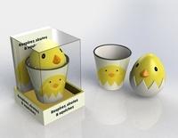 Marabout - Coffret Jeux de mains - Le livre Respirez, sirotez & squishez ! avec 1 mug et 1 squichy Poussin.
