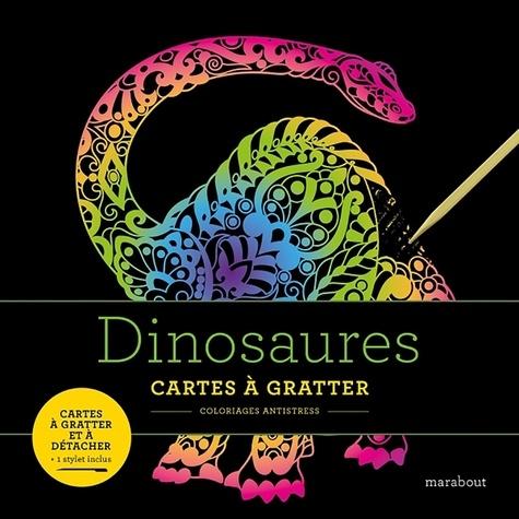Dinosaures. Cartes à gratter et à détacher. Avec 1 stylet inclus