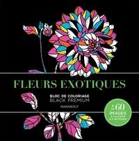 Marabout - Fleurs exotiques - Bloc de coloriage Black Premium.