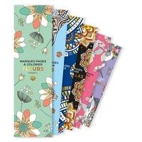 Marabout - Marques-pages à colorier fleurs.