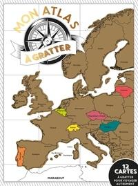 Marabout - Mon atlas à gratter - 12 cartes à gratter pour voyager autrement.