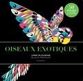 Marabout - Oiseaux exotiques - Carnet de coloriages black premium.