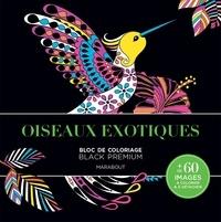 Marabout - Oiseaux exotiques - Carnet de coloriage black premium.