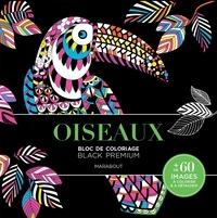 Marabout - Oiseaux - Bloc de coloriage Black Premium.
