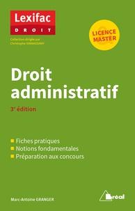 Marc-Antoine Granger - Droit administratif.