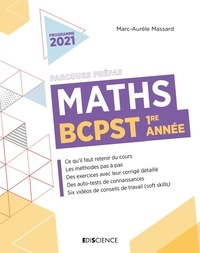 Marc-Aurèle Massard - Maths BCPST 1re année Parcours Prépas.