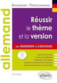 Livres à télécharger sur ipad mini Allemand  - Réussir le thème et la version aux examens et aux concours B2-C1 par Marc Béghin