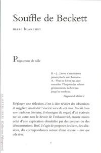 Marc Blanchet - Souffle de Beckett.
