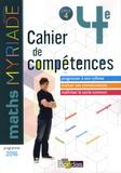 Marc Boullis - Mathématiques 4e Myriade - Cahier de compétences.