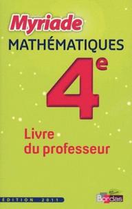 Marc Boullis et Didier Roy - Mathématiques 4e - Livre du professeur.