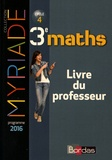 Marc Boullis - Maths 3e cycle 4 Myriade - Livre du professeur.