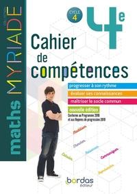 Marc Boullis - Maths 4e Myriade Cycle 4 - Cahier de compétences.
