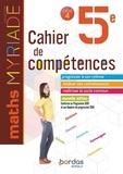 Marc Boullis - Maths 5e cycle 4 Myriade - Cahier de compétences.