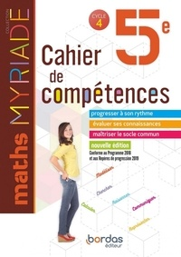 Marc Boullis - Maths 5e Myriade - Cahier de compétences.