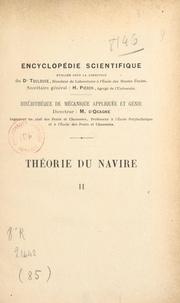 Marc Bourdelle et Maurice d'Ocagne - Théorie du navire (2). Du navire en mouvement - Avec 88 figures dans le texte.