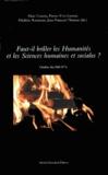 Marc Conesa et Pierre-Yves Lacour - Faut-il brûler les humanités et les sciences humaines et sociales ?.
