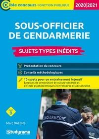 Marc Dalens - Concours externe de sous-officier de gendarmerie - Sujets-types inédits.