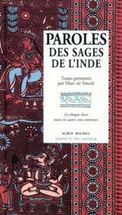 Marc de Smedt - Paroles des sages de l'Inde.