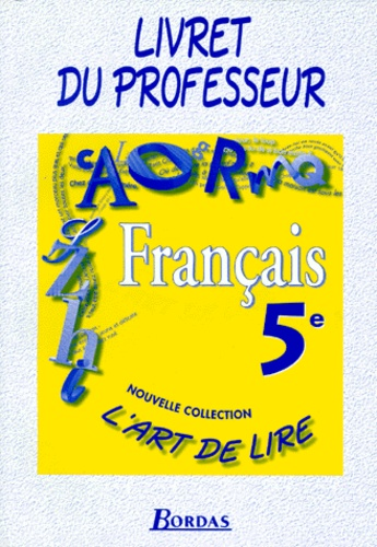 Francais 5eme Livret Du Professeur