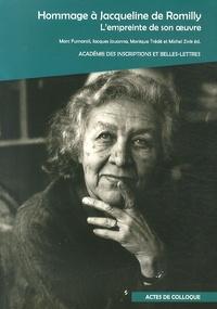Marc Fumaroli et Jacques Jouanna - Hommage à Jacqueline de Romilly - L'empreinte de son oeuvre.