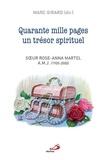 Marc Girard - Quarante mille pages un trésor spirituel - Soeur Rose-Anna Martel a.m.j. (1905-2000).