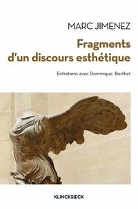 Marc Jimenez - Fragments d'un discours esthétique.
