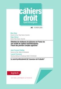 Marc Kleyr et Régis Steiner - Cahier du droit luxembourgeois n°2.