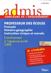 Professeur des écoles : Français, Histoire-géographie, instruction civique et morale - Entraînement à lépreuve écrite CRPE.pdf