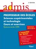Marc Loison - Professeur des écoles Sciences expérimentales et technologie - Epreuve écrite.