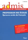 Marc Loison - Professeur des écoles - Epreuve orale de français.