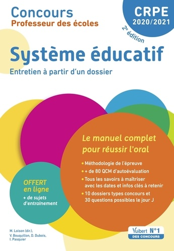 Système éducatif. Entretien à partir d'un dossier  Edition 2020-2021