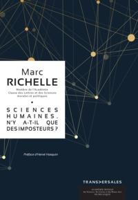Marc Richelle - Sciences Humaines. N'y a-t-il que des imposteurs?.