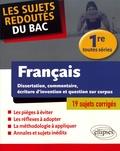 Marc Stephan - Les sujets redoutés du bac français 1re toutes séries.